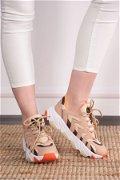 Renkli Kadın  Spor Ayakkabı Beyaz