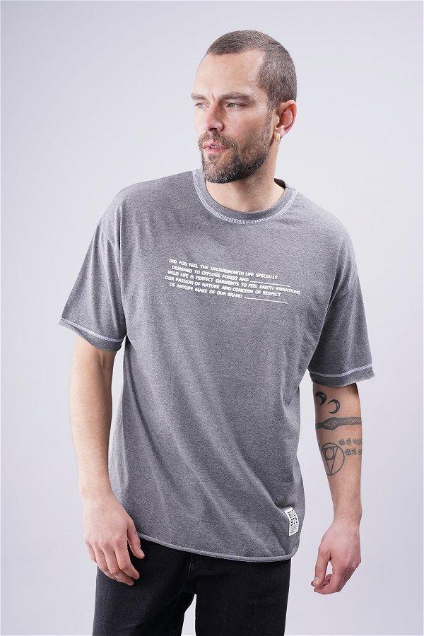 Baskılı Oversize T-shirt FUME