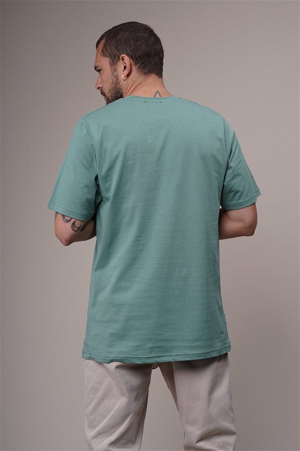 Baskılı Oversize T-shirt MINT