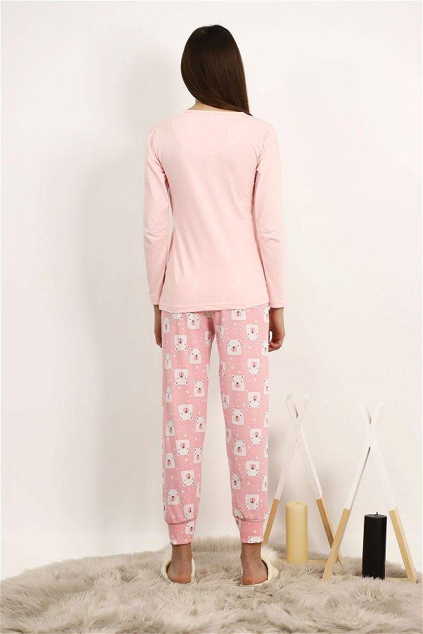 Baskılı Pijama Takımı PUDRA
