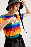 Baskılı Renkli  T-shirt RENKLİ