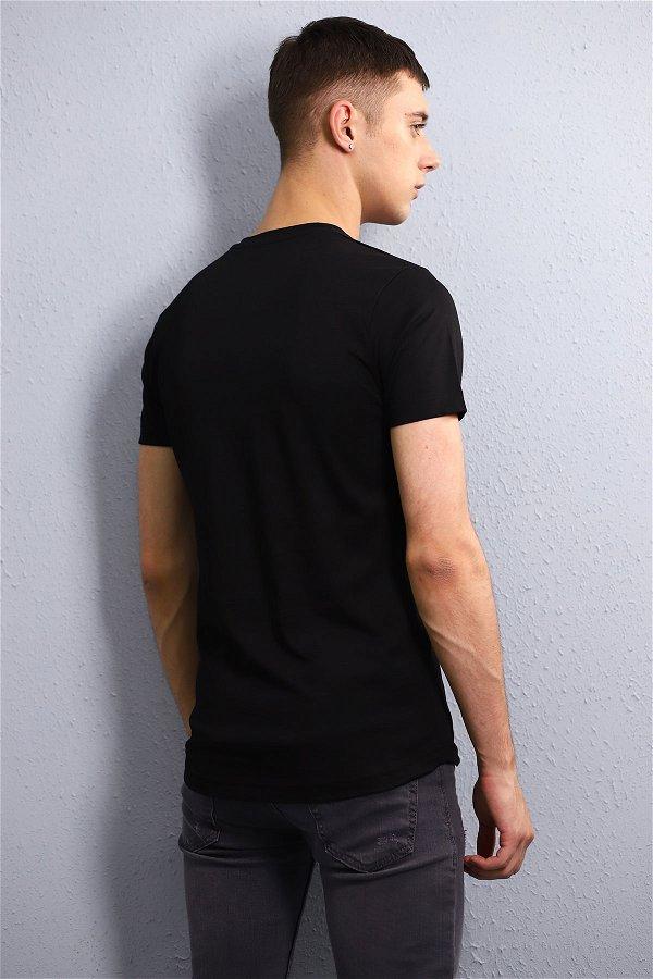 Baskılı T-Shirt SİYAH