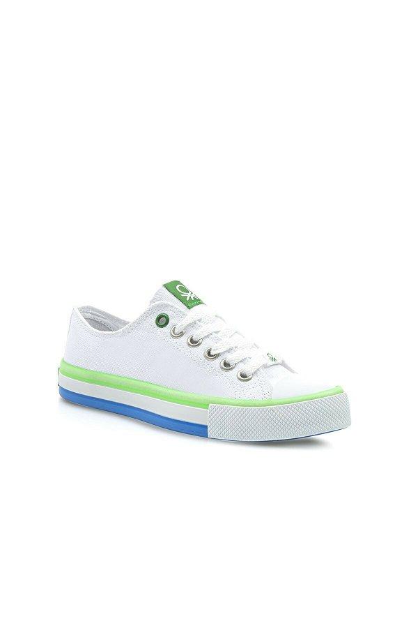 Benetton Çocuk Spor Ayakkabı BEYAZ-YEŞİ