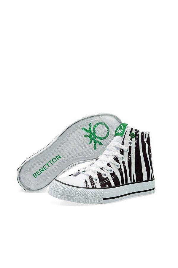 Benetton Kadın Spor Ayakkabı BEYAZ-LEOP