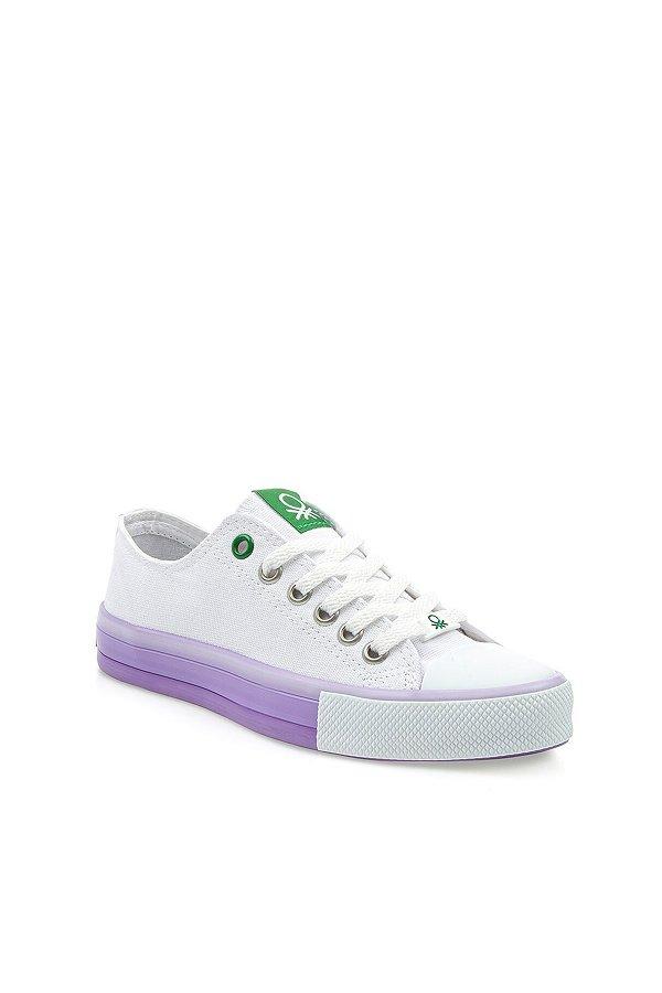 Benetton Kadın Spor Ayakkabı BEYAZ-LILA