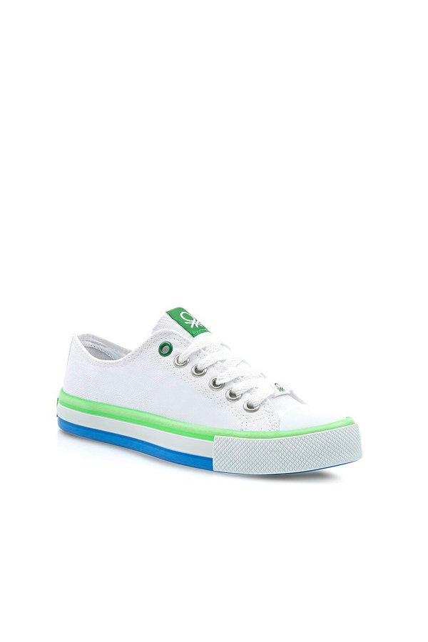 Benetton Kadın Spor Ayakkabı BEYAZ-YEŞİ