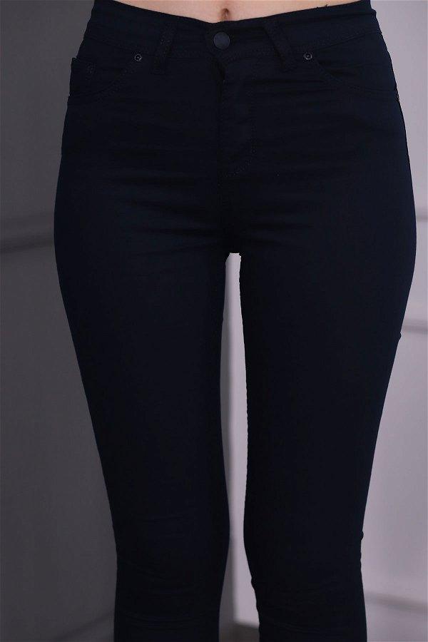 Bilek Boy Yüksek Bel Pantolon LACIVERT