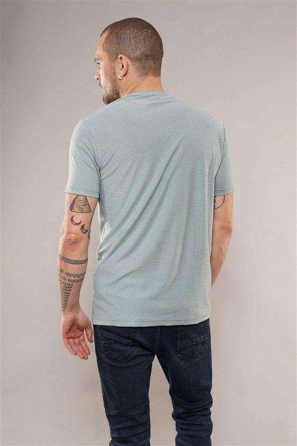 Bisiklet Yaka T-shirt D.YEŞİL