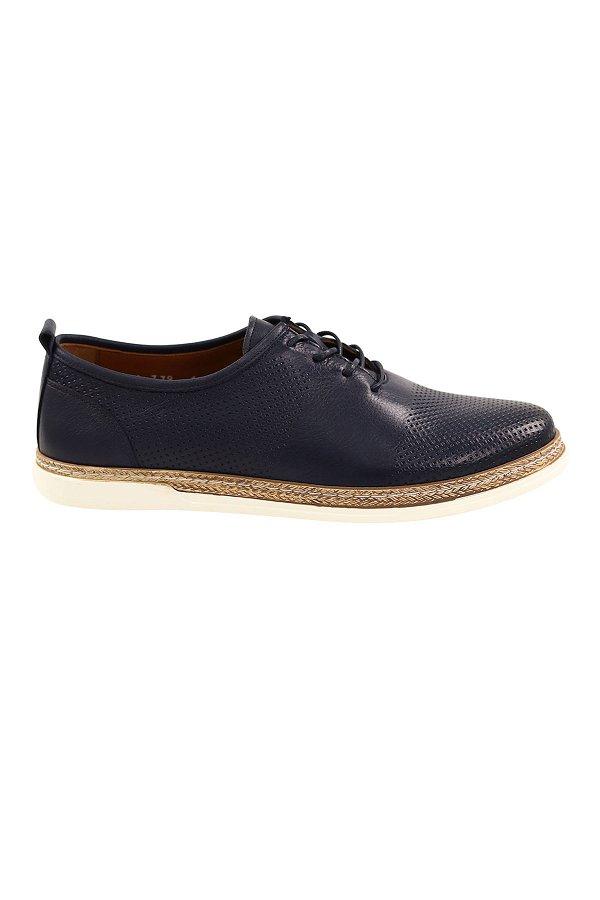 Bağcıklı Erkek Günlük Ayakkabı LACIVERT