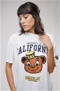 California Baskılı T-shirt BEYAZ