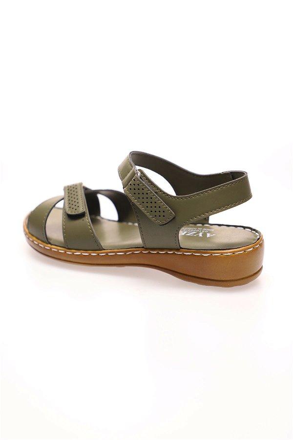 Çapraz Bantlı Sandalet HAKI