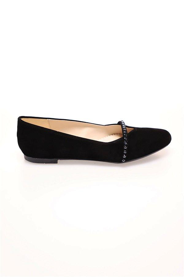 Çapraz Bantlı Sandalet SIYAH-SUET