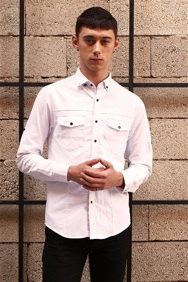 Cepli Gömlek Beyaz