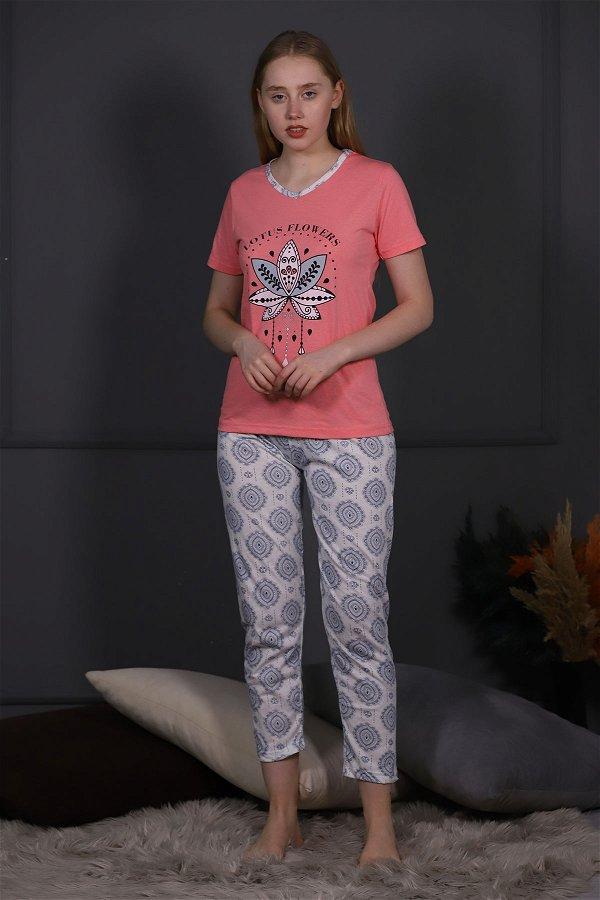 Çiçek Baskılı Pijama Takımı NAR CICEGI