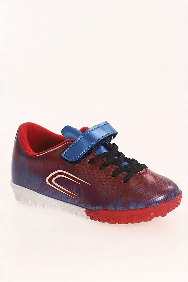 Çocuk Halı Saha Ayakkabı KIRMI-SAKS