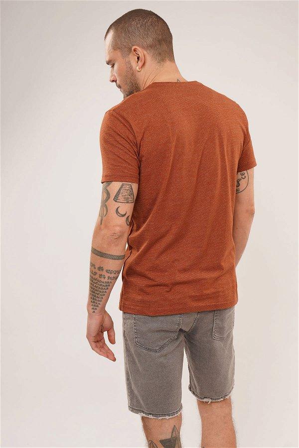 Desenli T-shirt Kiremit