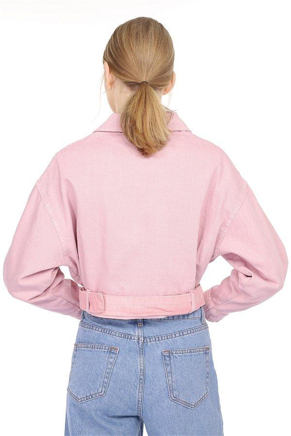 Düğmeli Kısa Ceket PUDRA