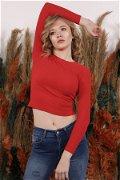 Fitilli Bluz Kırmızı