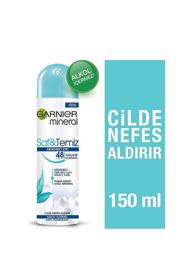Garnier Mineral Saf&Temiz Sprey Deodorant STD