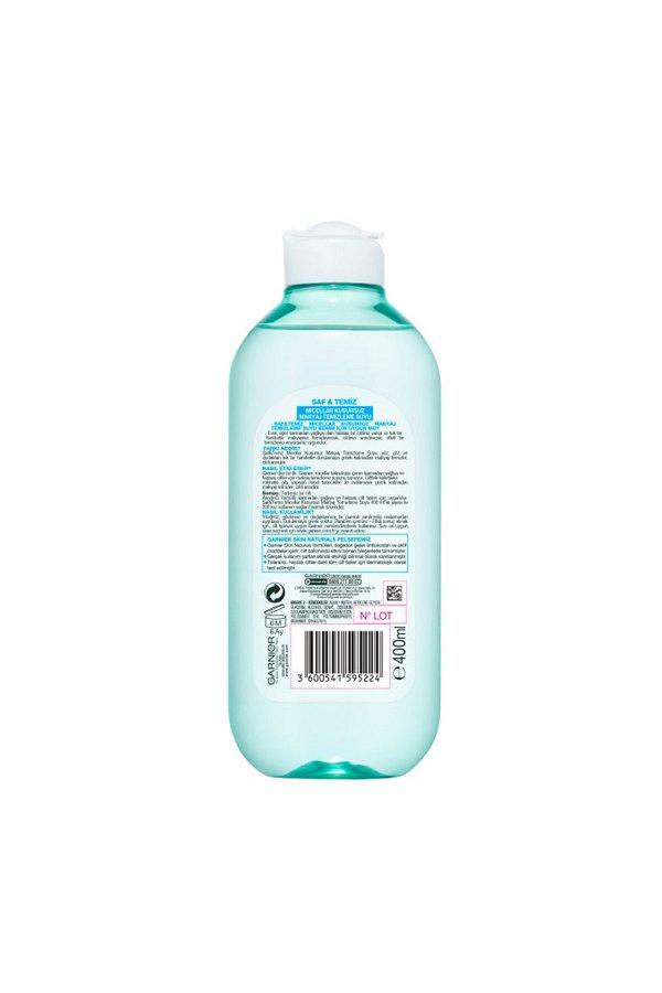 Garnier Saf & Temiz Micellar Kusursuz Makyaj Temizleme Suyu 400ML STD