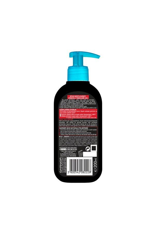 Garnier Saf & Temiz Siyah Nokta Karşıtı Kömürlü Temizleme Jeli 200 ml STD