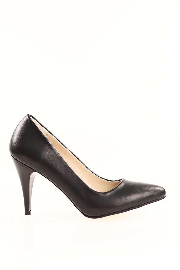 İnce Topuklu Topuklu Ayakkabı SIYAH