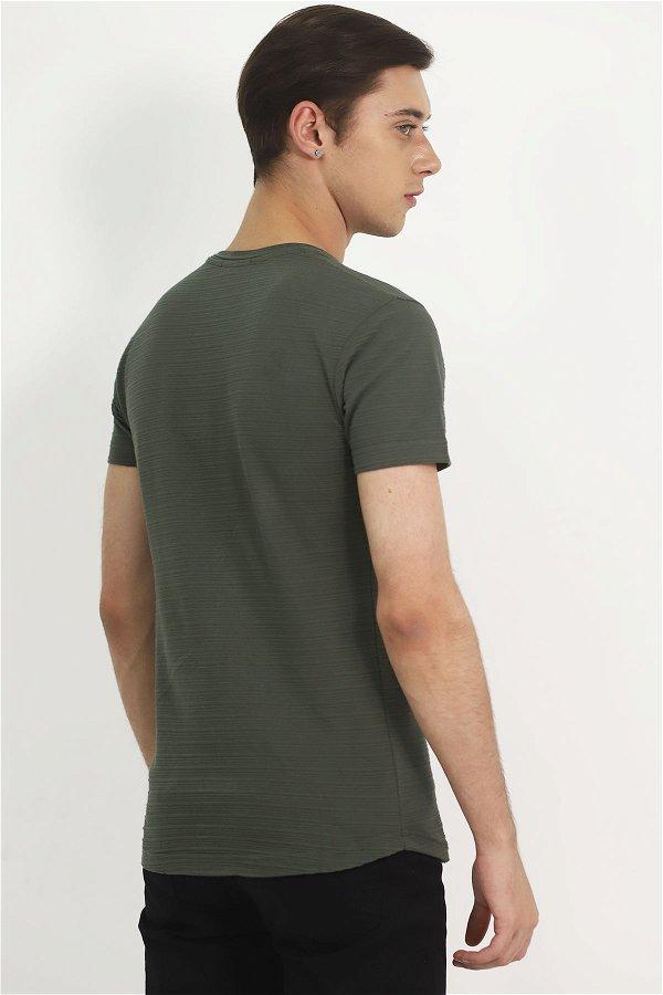 Baskılı T-Shirt HAKI