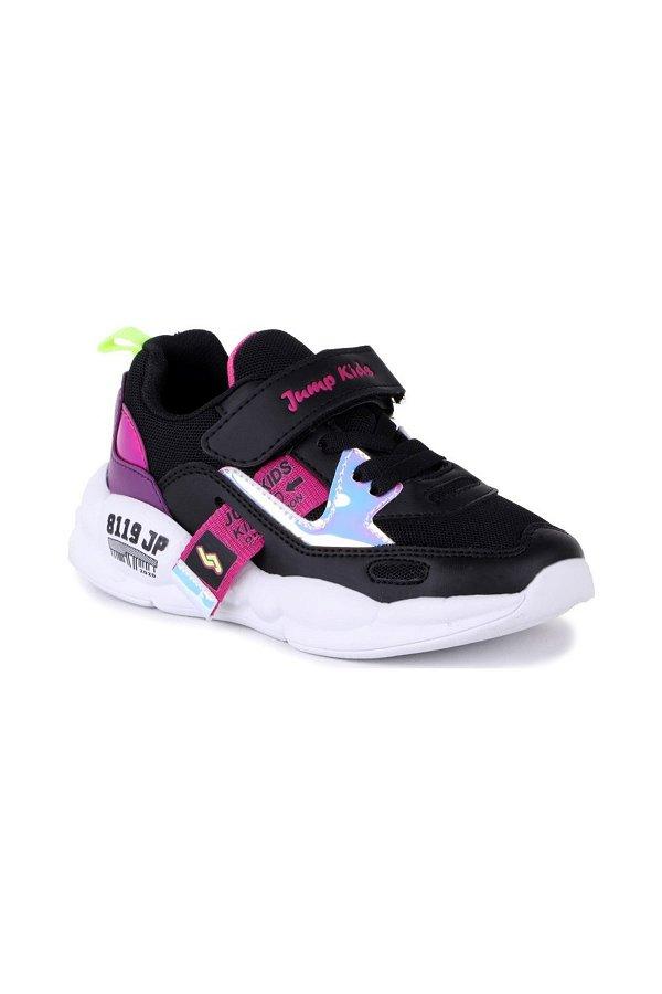 Jump Çocuk Spor Ayakkabı SIYAH MOR