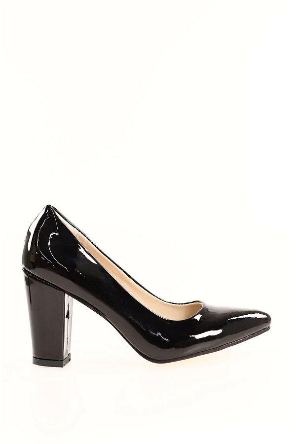 Kalın Topuklu Topuklu Ayakkabı SIYAH-RUGA