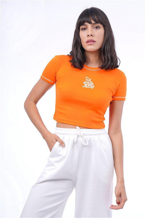 Kaplan Baskılı Mini T-shirt ORANJ