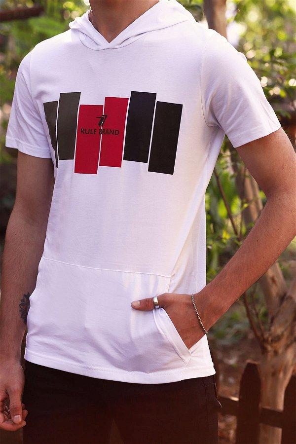 Kapüşonlu T-shirt  Beyaz