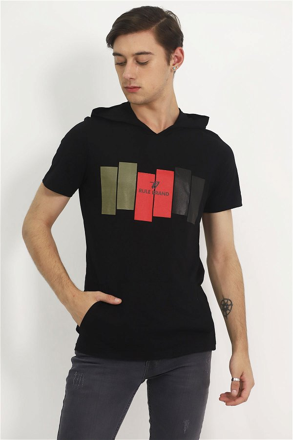 Kapüşonlu T-shirt  SIYAH