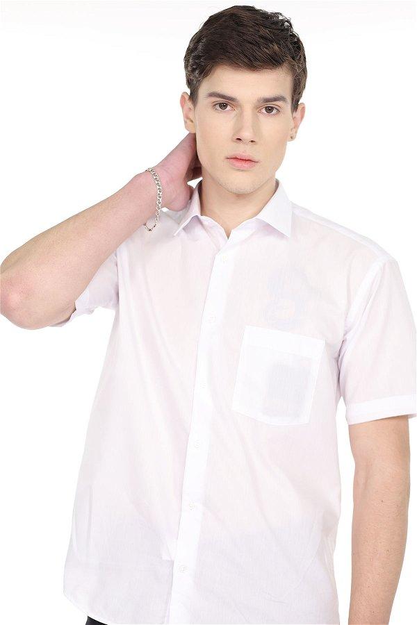 Kısa Kol Gömlek Beyaz