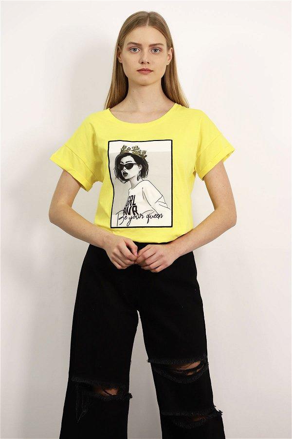 Kız Baskılı T-shirt