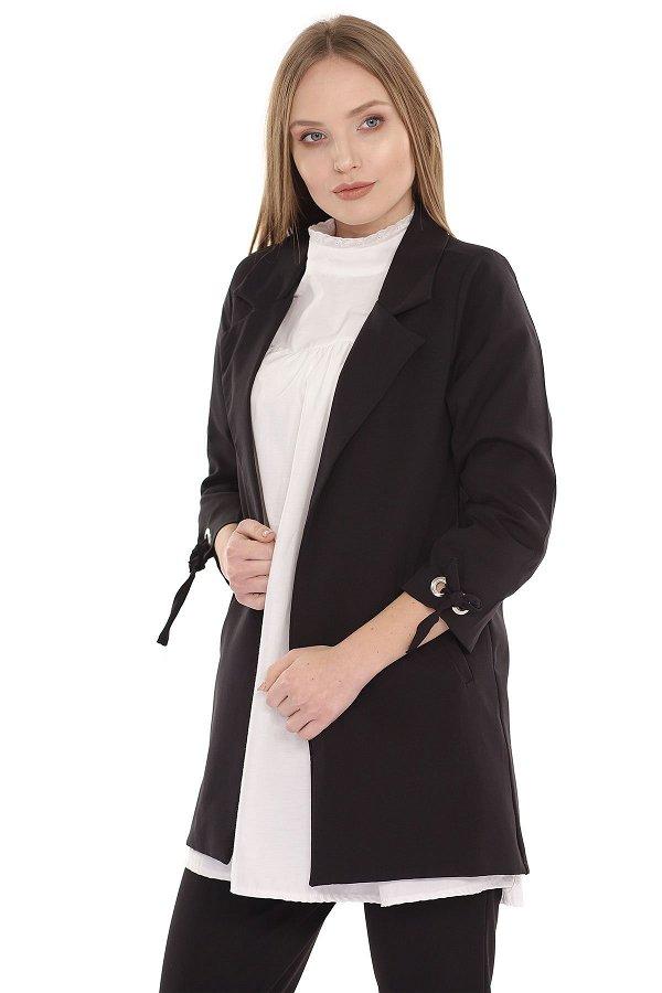 Kol Bağlı Ceket SIYAH