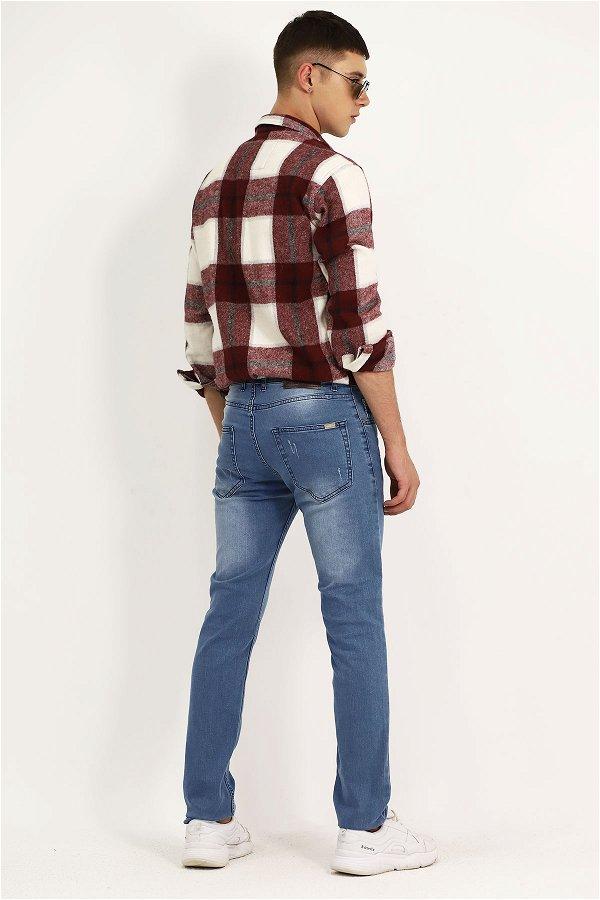 Yıkamalı Jeans LACIVERT