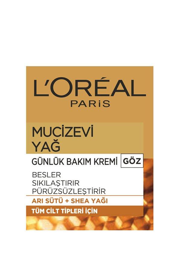 L'Oréal Paris Mucizevi Yağ Günlük Bakım Kremi Göz