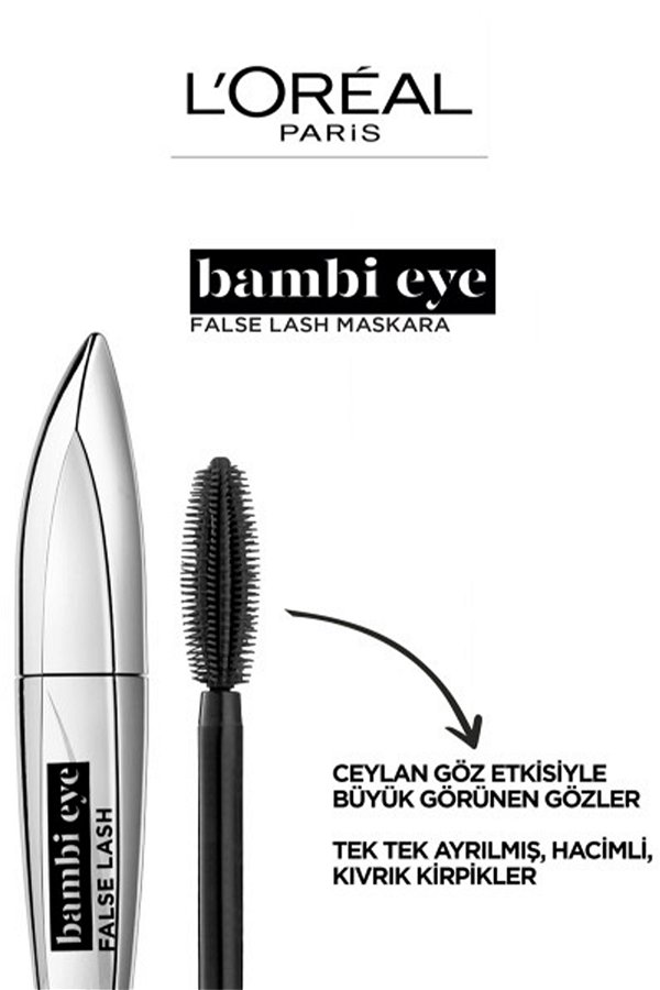 L'Oreal Paris Bambi Eye Ceylan Göz Etkili Maskara - Siyah STD