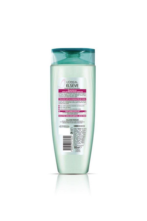 L'Oreal Paris Elseve 3 Mucizevi Kil Ağırlaştırmayan Bakım Şampuanı 520 ml STD