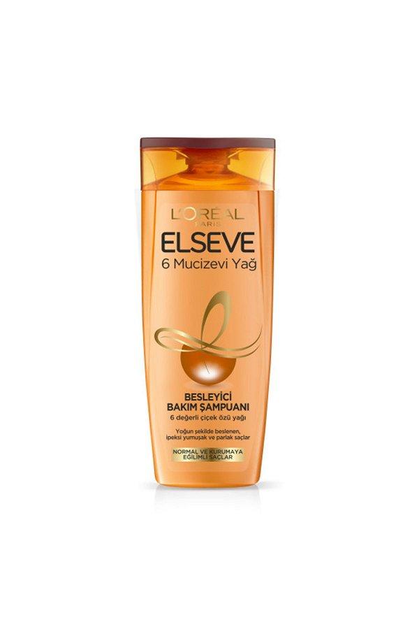 L'Oreal Paris Elseve 6 Mucizevi Yağ Besleyici Bakım Şampuanı 360 ml STD