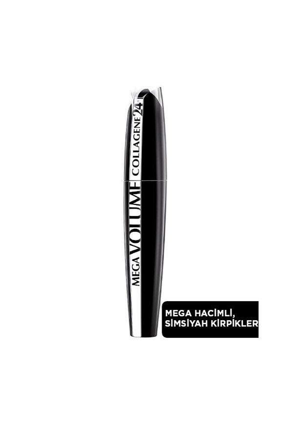 L'Oreal Paris Mega Volume Collagene 24H Siyah Maskara STD