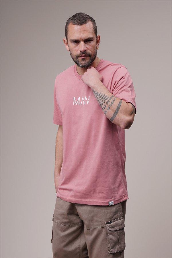 Man Yazı Baskılı Oversize T-shirt GÜL