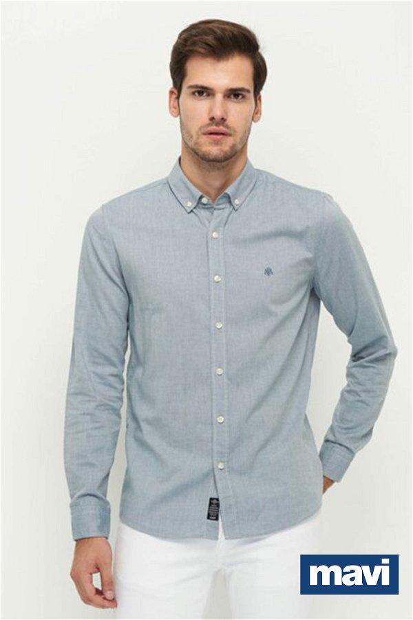 Mavi Cepsiz Gömlek