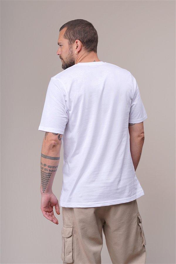 Baskılı Oversize T-shirt Beyaz