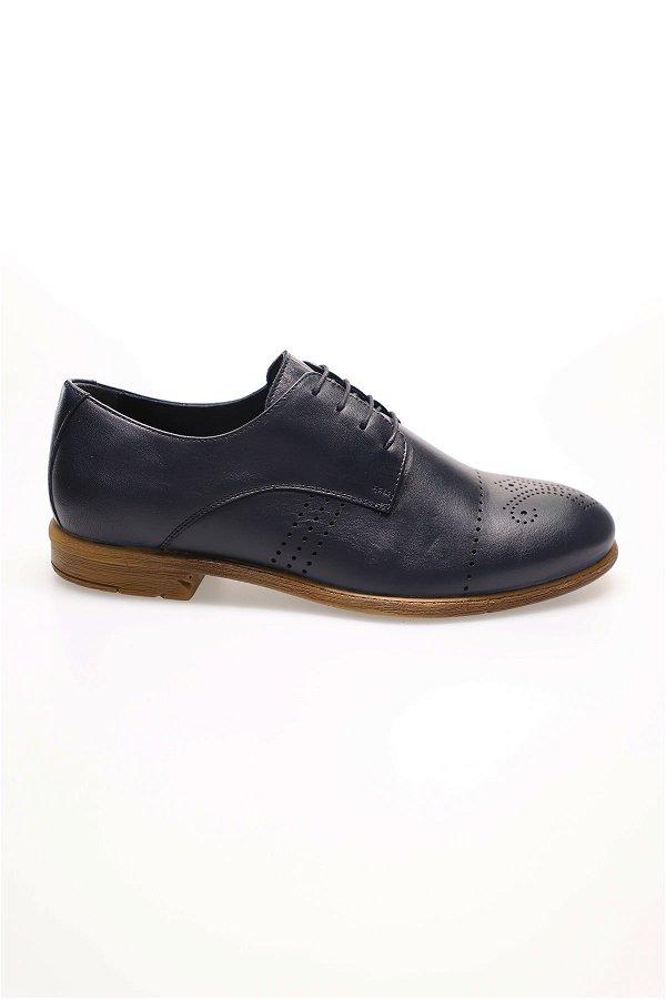 Bağcıklı Klasik Ayakkabı LACIVERT
