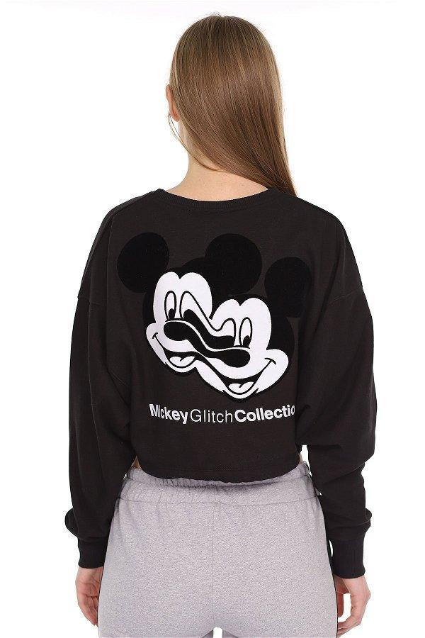Mickey Mouse Baskılı Sweat