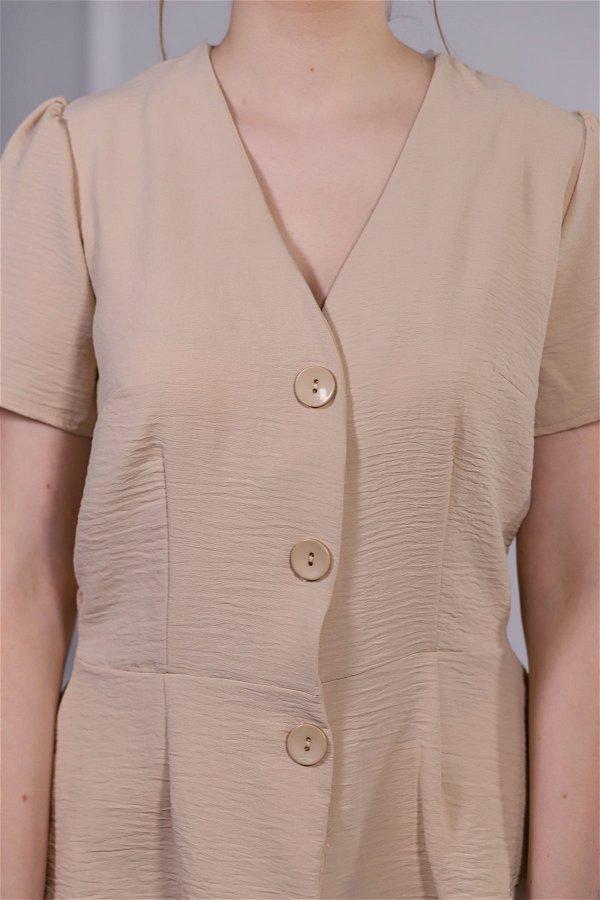 Ön Düğmeli Bluz