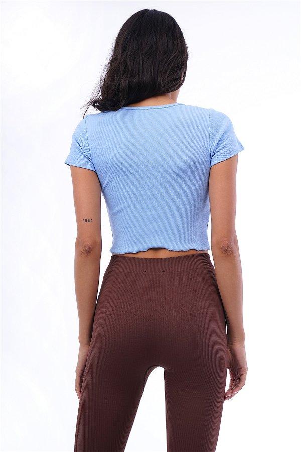 Ön Düğmeli Mini Bluz B.MAVI