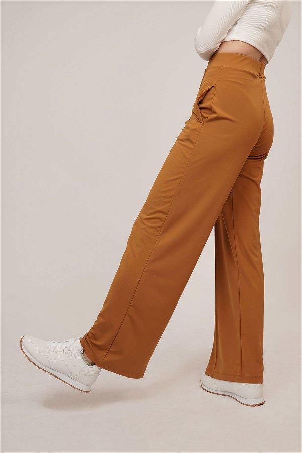 Bel Lastikli Dalgıç Pantolon CAMEL