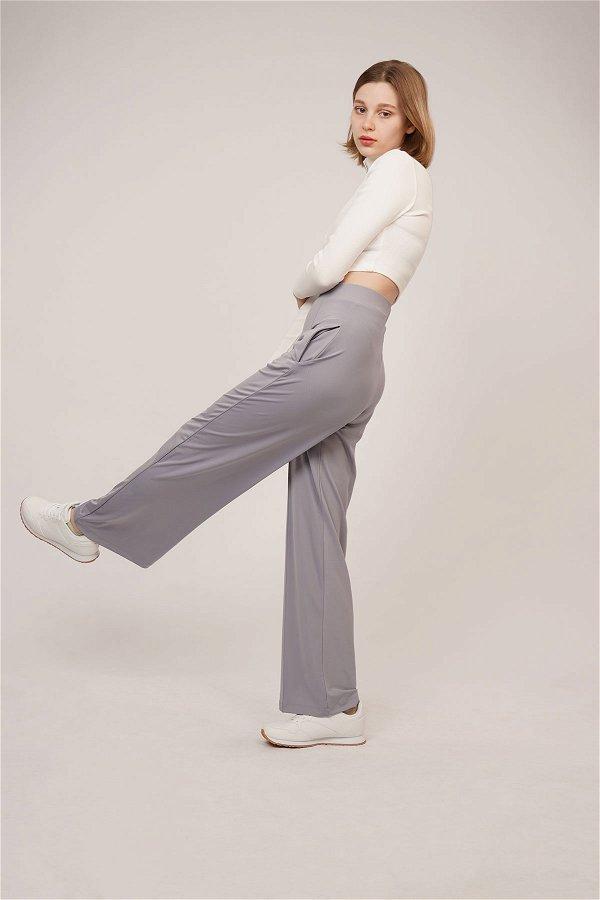 Bel Lastikli Dalgıç Pantolon lila